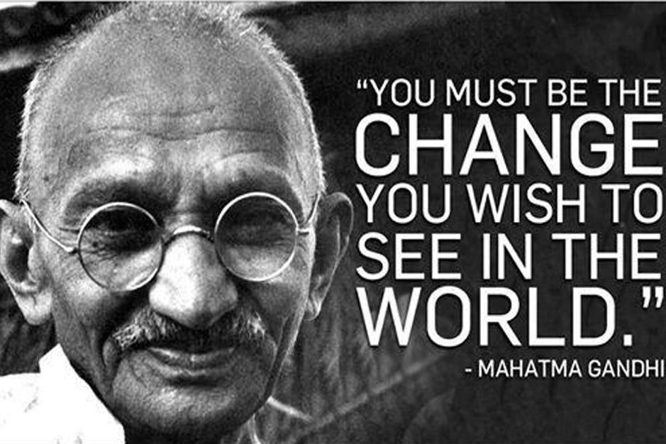 Ghandi over veranderen